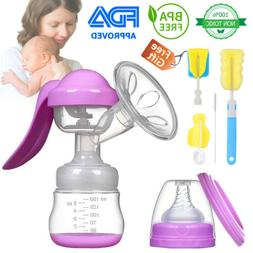 Manual Breast Pump Silicone Hand Pump Breastfeeding Food Gra