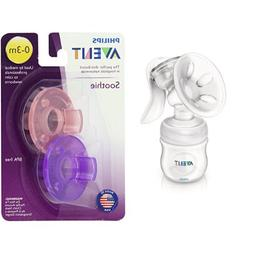 Philips Avent Manual Comfort Breast Pump and Soothie Pacifie