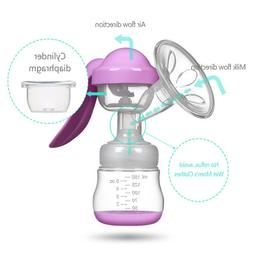 manual massage breast pump powerful suction nature