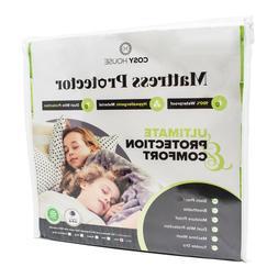 Mattress Protector Waterproof Luxury Bamboo Hypoallergenic F