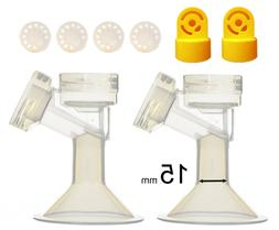 Maymom Brand 15 mm 2xOne-Piece Extra Small Breastshield w/Va