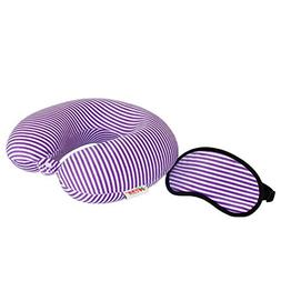 Andyshi Memory Foam U-Shaped Travel Neck Pillow with Sleep M