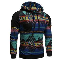 ANJUNIE Men Spring Winter Long Sleeve Hooded Sweatshirt Prin