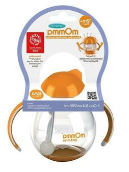 Lansinoh mOmma Straw Cup with Dual Handles BPA Free, 12 Mont