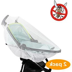 2 Pack Mosquito Net, KOMIWOO Bug Insect Netting for Baby Str