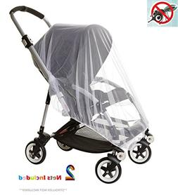 Eiram 2-Pack LARGE  Premium Baby Mosquito Nets for Strollers