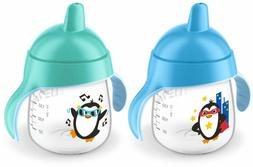 my penguin sippy cup 9oz blue