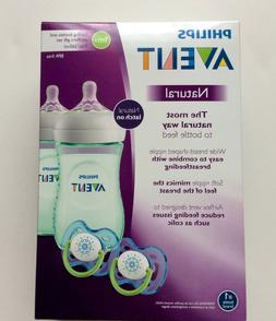 Philips Avent Natural Baby Bottle Purple Gift Set Infant Fee