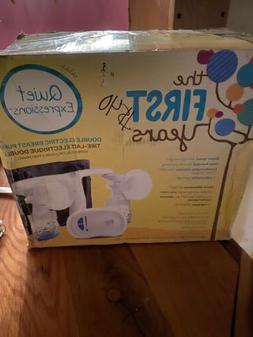 New-The First Years Double Electric Breast Pump-Quiet Expres