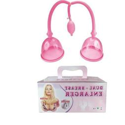 NEW DUAL CUP BREAST PUMP BREAST ENHANCE ENLARGEMENT TWIN CUP