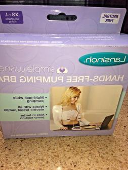 NEW IN BOX Lansinoh Hands-Free Pumping Bra, NIB! XS-L, Light