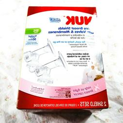 New Nuk Spare Breast Shields With Valves And Membranes 2 She