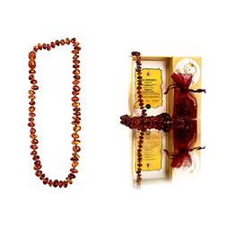 Baltic Amber Teething Necklace for Maximum Pain Relief and R