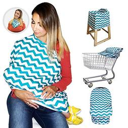 Nursing Breastfeeding Cover / Scarf + Baby Car Seat Cover /