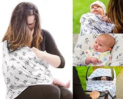 Premium Breastfeeding Cover Nursing Scarf - Multi-Function C