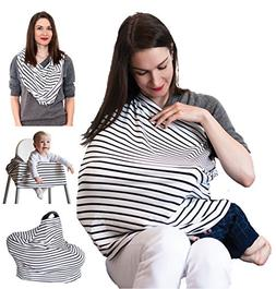 Nursing Breastfeeding Cover Scarf – Multi use Infinity Str