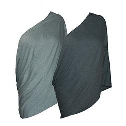 Quality Nursing Cover Scarf SET - 2 Chic Infinity Scarves -