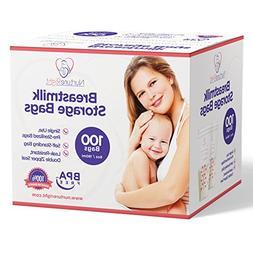 Nurture Right Breastmilk Storage Bags, 6oz / 180ml Pre-Steri