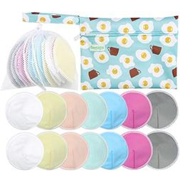 Organic Bamboo Nursing Pads +Laundry Bag & Travel Bag, Size: