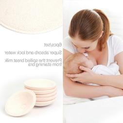 Pack of 6 Reusable Washable Breast Pads Feeding Cotton Nursi