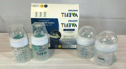 Philips Avent 3 wide neck bottles 4 oz New