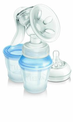 philips natural manual breast pump with milk