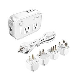 Foval International Travel Adapter Power Step Down 220v to 1