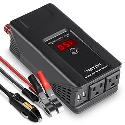 POTEK 500W Power Inverter DC 12V to 110V AC Car Converter wi