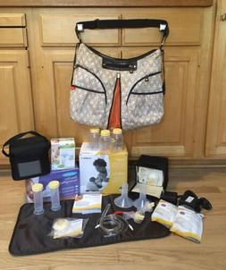 Medela Pump In Style Advance, Lot,Extra Nursing Pads, Storag