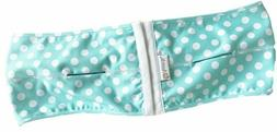 Ameda PumpEase Hands Free Pumping Bra Aqua Dot Green S L XL