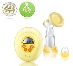 QQcute Single Electric Breast Pump Comfort Breastpump Breast