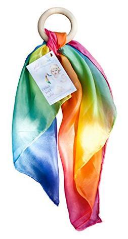 Sarah's Silks Rainbow Baby Teether