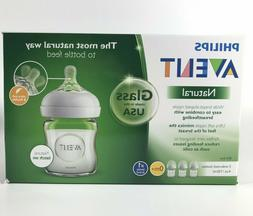 Philips AVENT SCF701/37 Natural Glass Baby Bottle 4 Oz 3 Pac