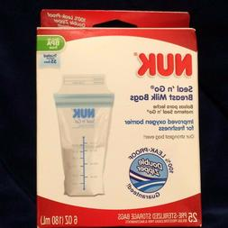 NUK Seal 'n Go Breast Milk Bags  25 Pre-Sterilized Storage B