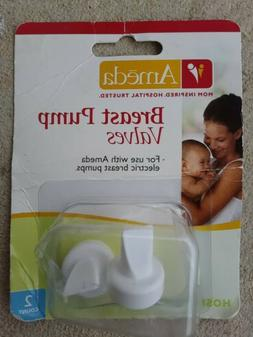 ** SET of 2 ** AMEDA BREAST PUMP WHITE VALVES NEW PURELY YOU