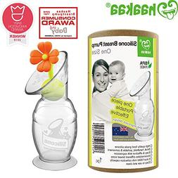 Haakaa Silicone Breast Pump with Suction Base and Flower Sto