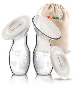 SILICONE MANUAL BREASTMILK PUMP – 2 Pack & Bonus Dust Free