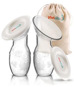 SILICONE MANUAL BREASTMILK PUMP – 2 Pack & Bonus Dust Free