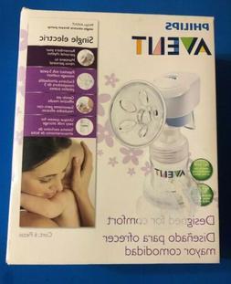 Philips Avent Single Electric Breast Pump. White BPA FREE. N