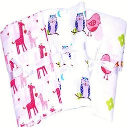3 Pack Soft & Breathable Baby Swaddle For Deeper Sleep. Cute