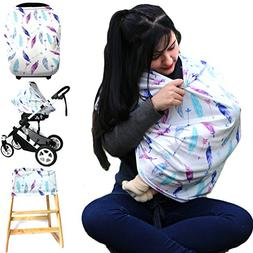 Hicoco Baby car seat Cover, Nursing Covers Breastfeeding Cov