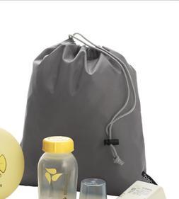 Medela Swing carrying gray travel bag pouch drawstring gray