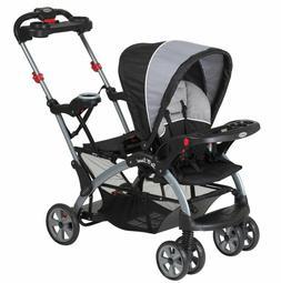 Tandem Stroller Baby Infant Sit Stand Ride Travel 2 Children