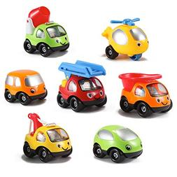Kinder Toys Network Toon Town Baby Toy Cars , Set of 7 - Fir
