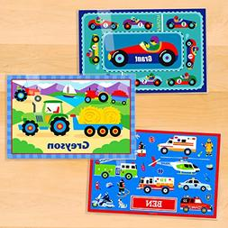 Olive Kids Transportation Personalized Placemat 3 Pack