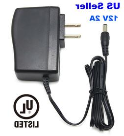 UL AC to DC 12V 2A Power Adapter for Amplifier Yamaha Willia