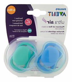 Philips Avent Ultra Air Pacifier 6-18m Blue/Green 2 Ct. Paci