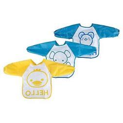Big Elephant Unisex Baby Waterproof Long Sleeved Bibs with S