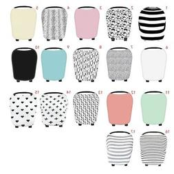 US Stretchy Multi-Use Car Seat Canopy Nursing cover+Infant b