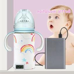 USB Baby Bottle Warmer Heater Insulated Bag Travel Cup Porta
